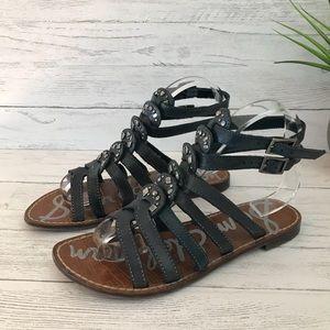 Sam Edelman Goldie Black Gladiator Sandals